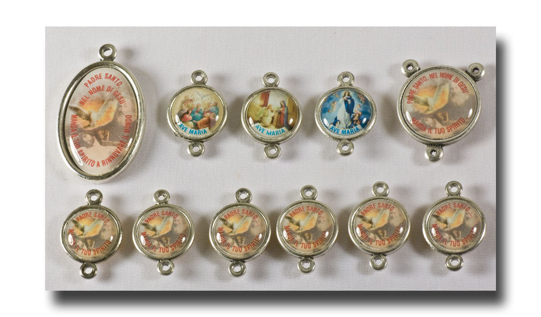 Holy Ghost set, Colour/Antique silver - 2215 - Click Image to Close
