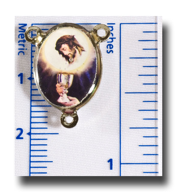 Blessed Sacrament and Last Supper - Colour/silver-tone - 276n - Click Image to Close