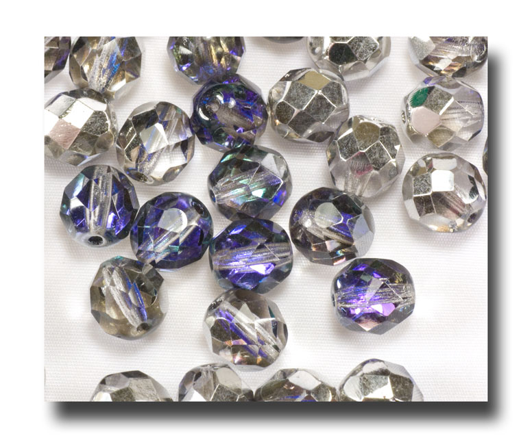 Facet Glass beads, 8mm - Heliotrope - 6020 - Click Image to Close