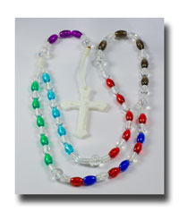 Multi-coloured Pro-Life Rosary