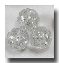 Rose beads, 9mm Crystal Silver Sparkle - Rose21x11