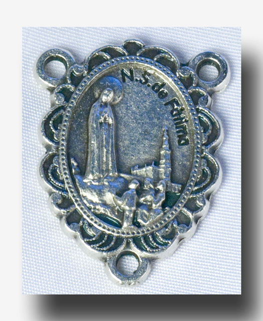 Sacred Heart and O.L. Fatima - Antique silver - 217 - Click Image to Close