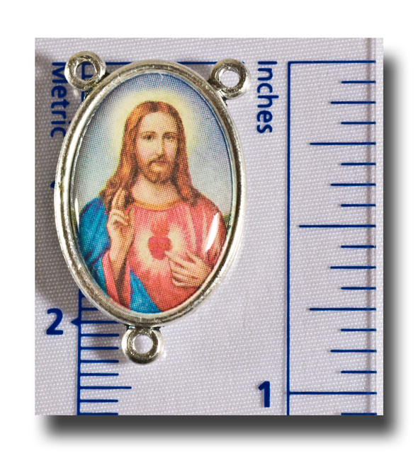 Sacred Heart centre - Colour/Antique silver - 2212 - Click Image to Close