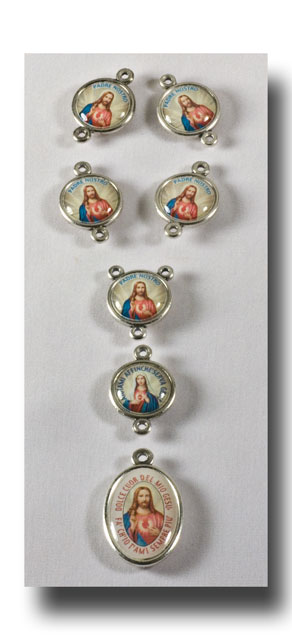 Sacred Heart set, Colour/Antique silver - 2214 - Click Image to Close