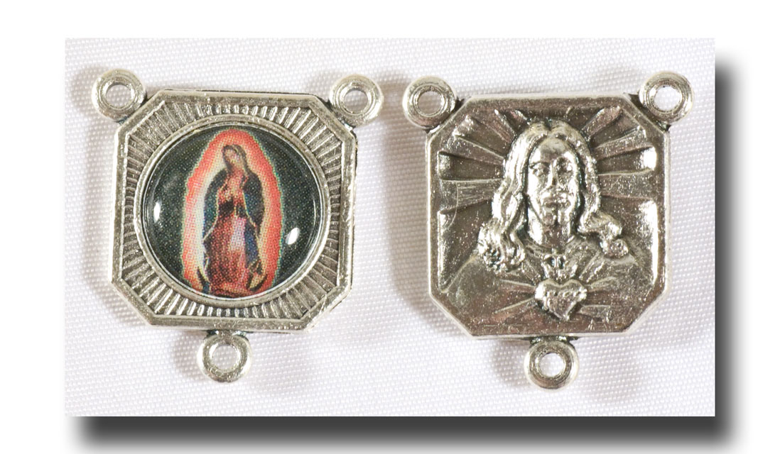 O.L. of Guadalupe - Colour picture/Antique silver - 228e - Click Image to Close