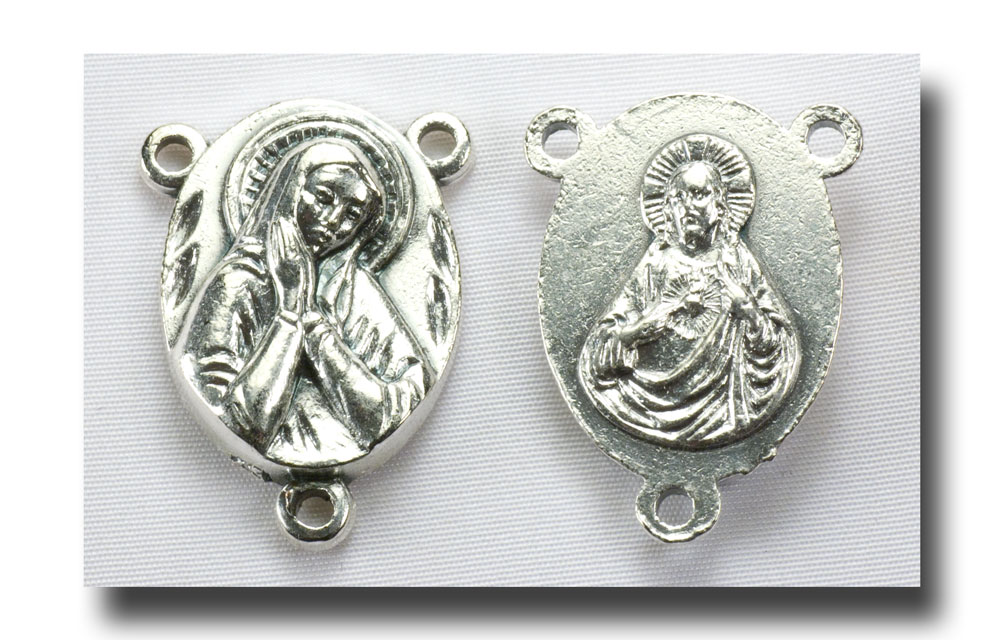 Praying Madonna - Antique silver - 244 - Click Image to Close