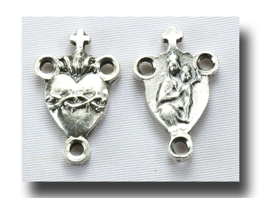 Small Thorned Heart - Antique Silver - 250 - Click Image to Close