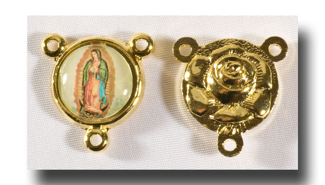 O.L. of Guadalupe - Colour picture/Gilt (gold-tone) - 275f - Click Image to Close