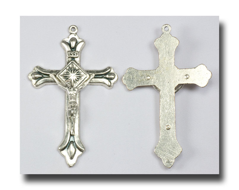 Traditional Crucifix - Antique silver - 302 - Click Image to Close