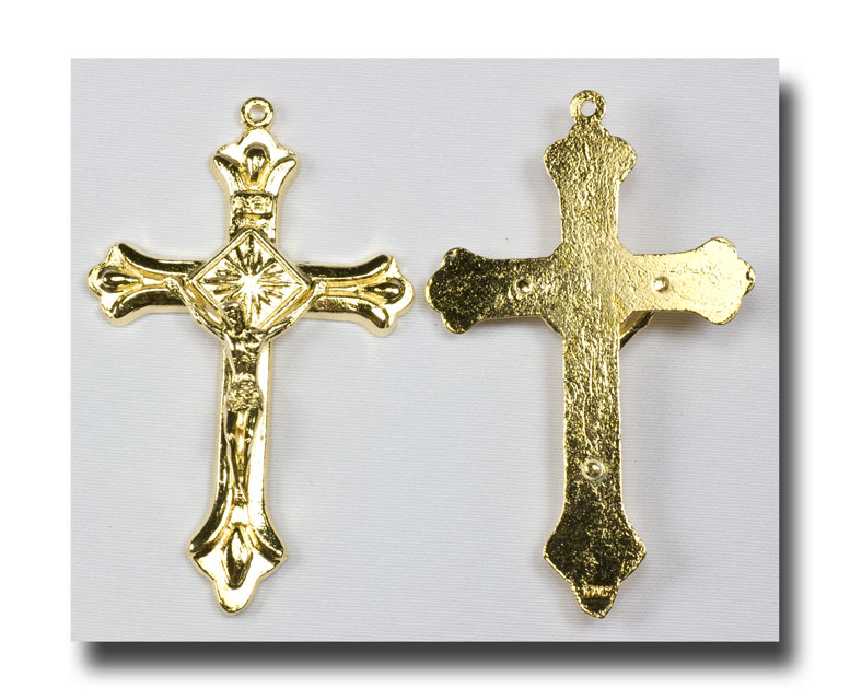 Traditional Crucifix - Gilt (gold-tone) - 303 - Click Image to Close
