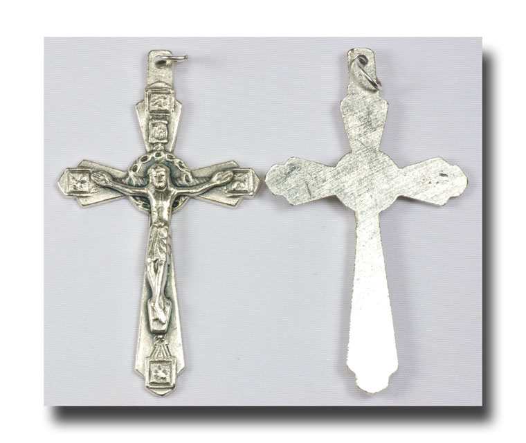Crown of Thorns Crucifix - Antique silver - 311 - Click Image to Close