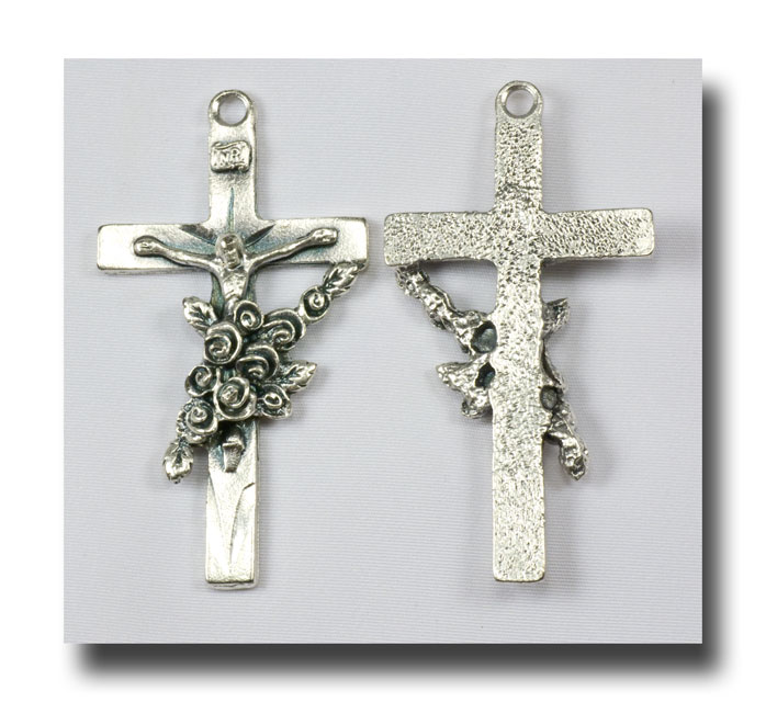 St. Therese Crucifix - Antique Silver - 317 - Click Image to Close