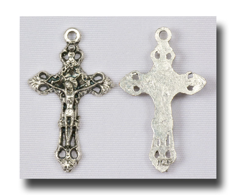 Filigree Crucifix (tiny) - Antique Silver - 320 - Click Image to Close