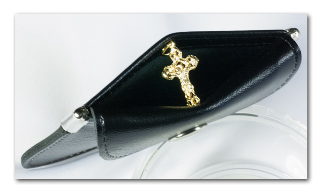 Rosary Pouch - Black vinyl - 806 - Click Image to Close