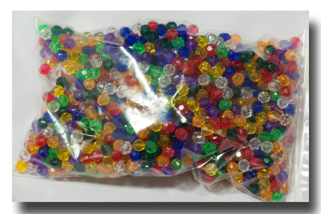 Facet beads - 10mm Transparent Mixed - F10199 - Click Image to Close