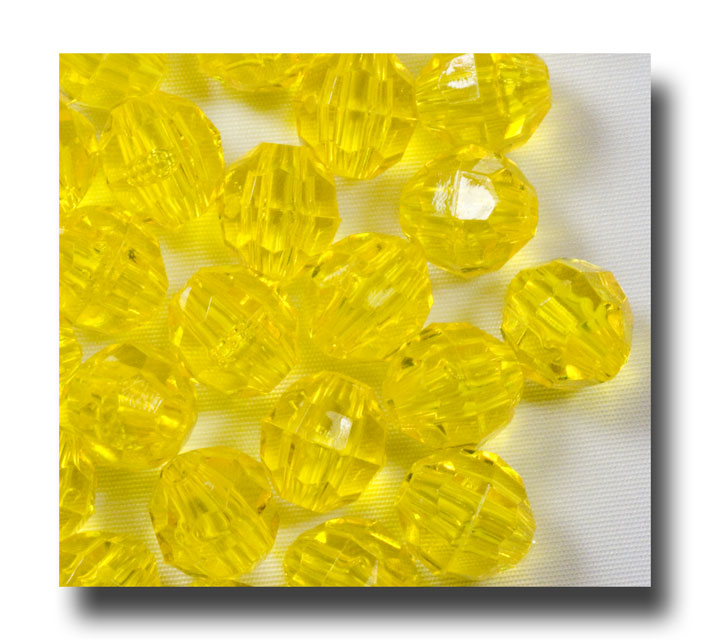 Facet beads - 8mm Golden Yellow - F8183 - Click Image to Close